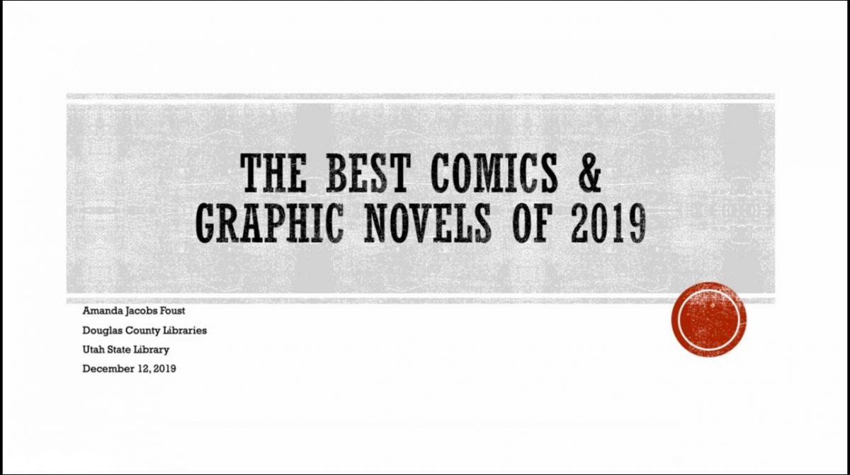 The Best Comic Books & Graphic Novels of 2019 Webinar