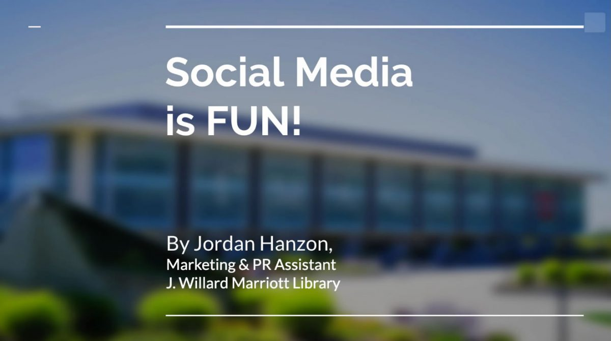 Social Media is Fun Webinar