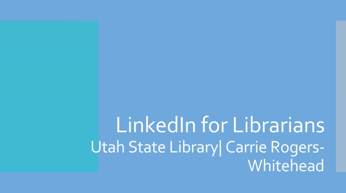 LinkedIn for Librarians Webinar