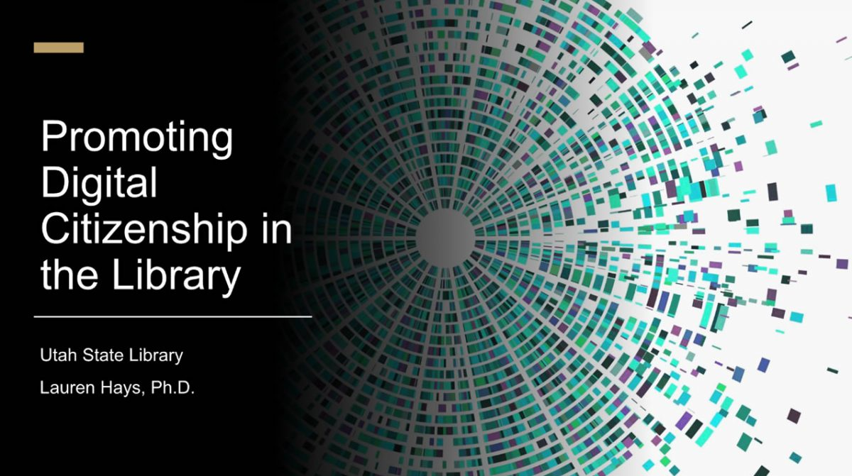 Promoting Digital Citizenship in the Library Webinar