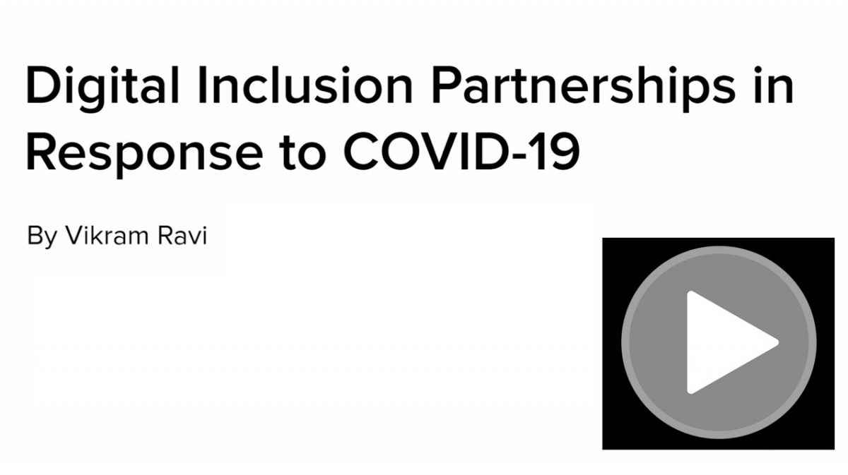 Digital Inclusion Partnerships in Response to COVID-19