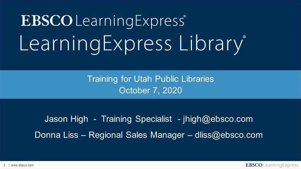 Job & Career Accelerator Deep Dive - Utah